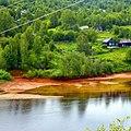 Разгрузка кислых шахтных вод из Ладейного лога, Губаха, Пермский край - panoramio.jpg