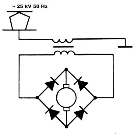 Общая схема электровоза