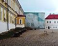 Церковь Всех Святых с больничными палатами (на реставрации), остров Столобный.jpg