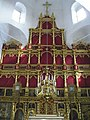 Церковь д. Барута. Внутреннее убранство храма. Иконостас на реставрации.jpg
