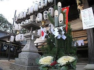 Kadomatsu - Kadomatsu in Shinto shrine