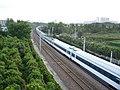 宁镇公路旁疾驰的火车 - panoramio.jpg