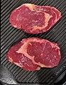 -2020-20-22 Two cuts of rib eye beef steak, Trimingham.JPG
