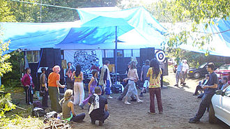 Freetekno - Freeteknitians at Teknival 2004, Ontario, Canada