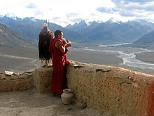 08IN1106 sunset concert on the gompa roof.jpg