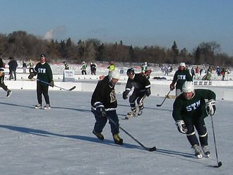 Climate of Minnesota - The U.S. Pond Hockey Championships are played every January on Lake Nokomis in Minneapolis