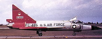 Duluth Air National Guard Base - 11th FIS F-102 Delta Dagger 56-1485 in arctic colors about 1959