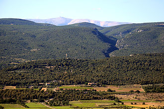 Mont Ventoux - Mont Ventoux as seen from Roussillon