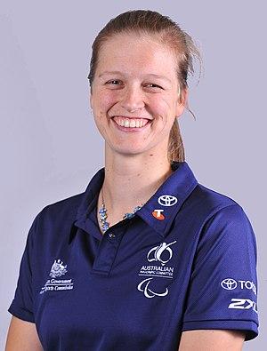 Sarah Stewart (basketball) - 2012 Australian Paralympic Team portrait of Stewart