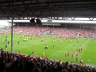 Cork GAA - Cork supporters invade the field at Semple Stadium after a game, 2014