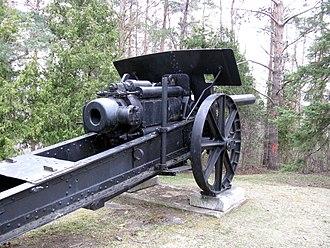 15 cm L/40 Feldkanone i.R. - Image: 15cm FK i RL40 Woodbridge 3