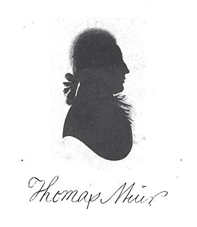 Profile of Thomas Muir taken from a bust circa 1793