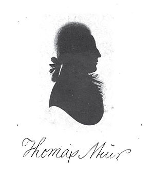 Thomas Muir of Huntershill - Thomas Muir circa 1793