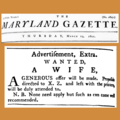 18010319 Wife wanted ad - Maryland Gazette.png