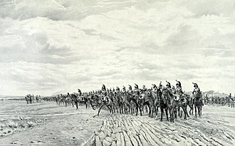 Battle of Austerlitz - French cuirassiers taking position