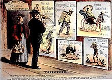 Republican campaign poster from 1896 attacking free silver.