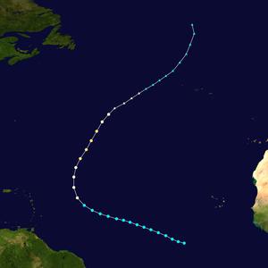 1902 Atlantic hurricane season - Image: 1902 Atlantic hurricane 3 track