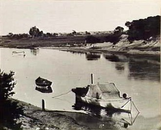 Patterson Lakes, Victoria - Photograph taken in 1905 of Carrum Creek (Patterson River)