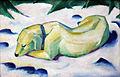 1911 Marc Liegender Hund im Schnee anagoria.JPG