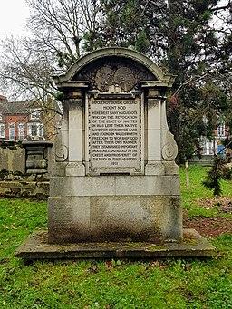 1911 memorial at Mount Nod (Huguenot Burial Ground), Wandsworth