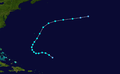 1957 Atlantic tropical storm 8 track.png