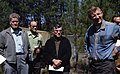 1969. Pine shoot moth committee. L-R Art Roberts, Hopkins, Parsons, Lauterbach, Goeders. Pringle Falls, OR. (34465485314).jpg