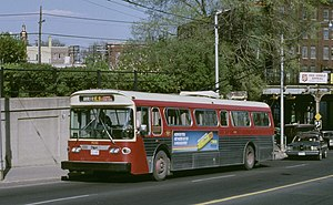 Toronto Transportation Commission - One of TTC's 151 Flyer E700A trolley buses