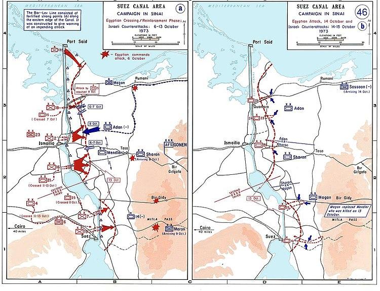 1973 sinai war maps