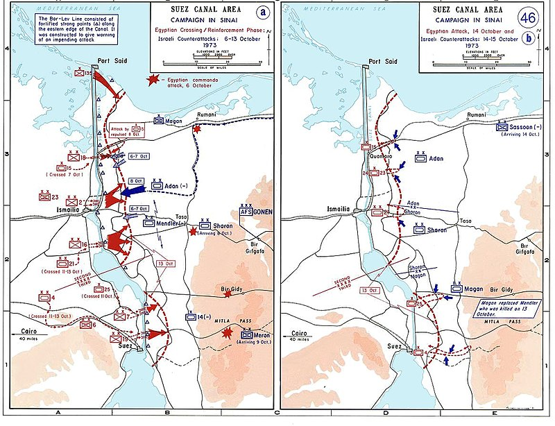 The 1973 War in the Sinai, October 6-15 1973 sinai war maps.jpg