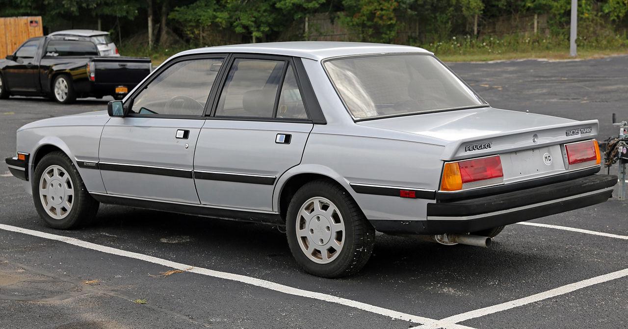 File 1987 Peugeot 505 Turbo S Left Rear Us Jpg