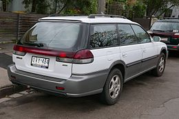 1998 Subaru Outback (BG9 MY98) station wagon (2015-06-18) 02.jpg