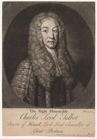 Charles Talbot, 1st Baron Talbot - Lord Talbot by Gerhard Bockman.