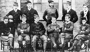 English public school football games - The Royal Engineers AFC (1872): the first passing side (of whom many former public school members)