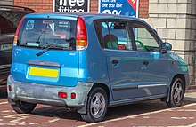 the rear end of the first atos introduced in 1997