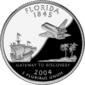 Florida quarter dollar coin