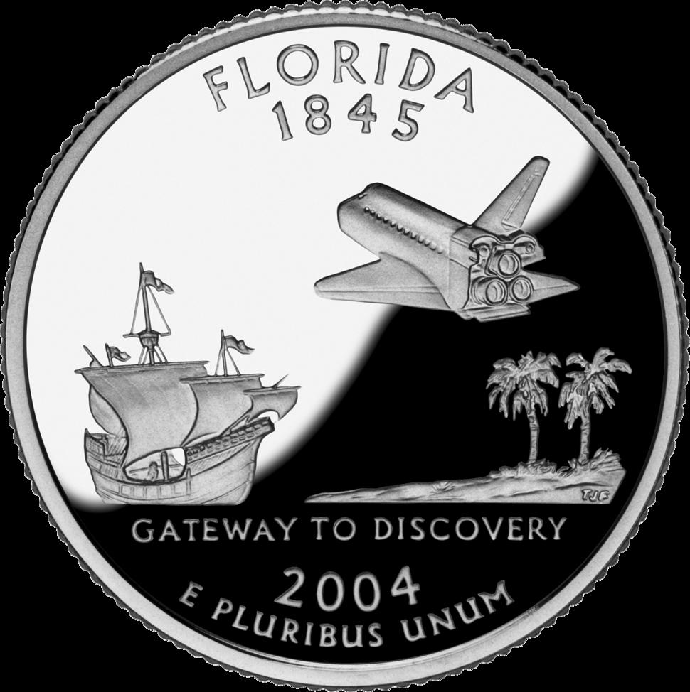 Florida quarter dollar coin