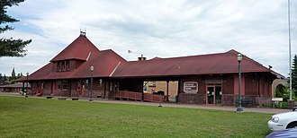 National Register of Historic Places listings in Gogebic County, Michigan - Image: 2009 0617 Chicago Northwestern Depot Ironwood