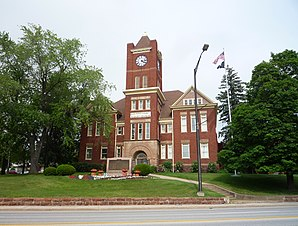 Das Dickinson County Courthouse in Iron Mountain, gelistet im NRHP Nr. 80001852[1]