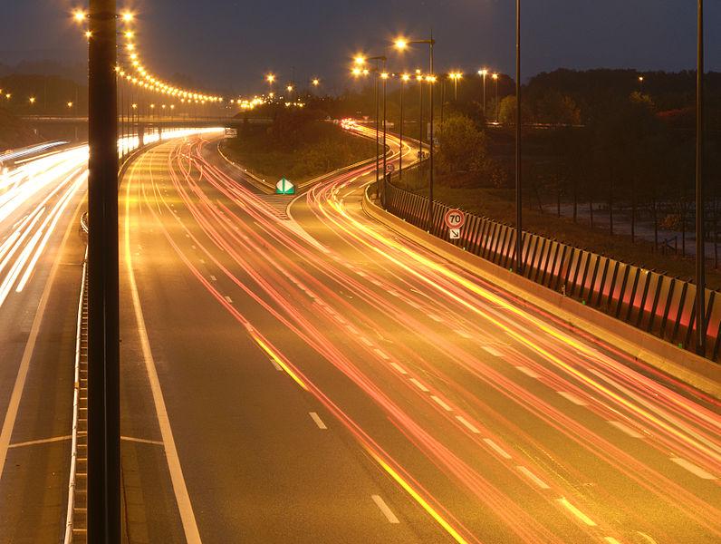 This file was uploaded  with Commonist.    Filés de véhicules sur l'autoroute A36 à Brognard.