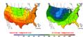 2013-06-02 Color Max-min Temperature Map NOAA.png