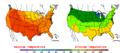 2013-07-24 Color Max-min Temperature Map NOAA.png