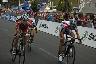 2013 UCI Road World Championships – Women's junior road race - Final sprint of the front group