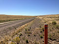2014-09-25 10 55 01 NV post along Rowland Road (Elko County Route 750) about 7.8 miles north of Gold Creek Road (Elko County Route 749) and Diamond A Road (Elko County Route 751) at the signed Nevada and Idaho border.JPG