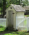2014 Landis Valley Museum Building 13 Landis Brothers House and Stable outhouse.jpg