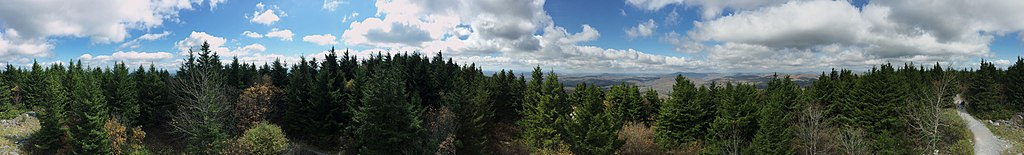 View from the observation tower on Spruce Knob - @Wikipedia - Famartin