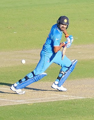 Rohit Sharma - Rohit Sharma playing a flick shot during 2015 Worldcup