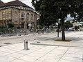 2017-07-28, Platz der Alten Synagoge in Freiburg, fertiggestellt aber noch nicht freigegeben 1.jpg