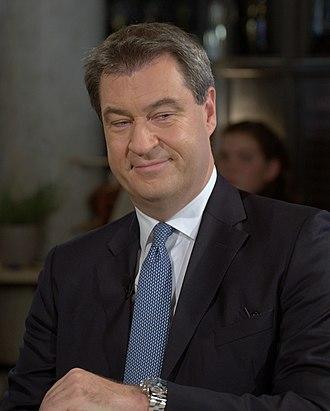 Minister president (Germany) - Image: 2018 10 12 Markus Söder CSU 8341
