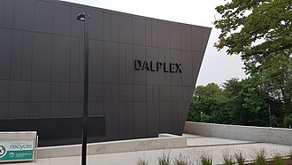 Dalplex is the largest fitness and recreational centre operated by the university. 2018 Dalplex, Dalhousie University in Halifax, Nova Scotia.jpg