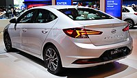 2019 Hyundai Elantra Limited (AD facelift) rear NYIAS 2019.jpg